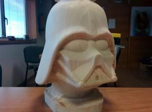 Darth Vader, busto en madera a escala 1/2